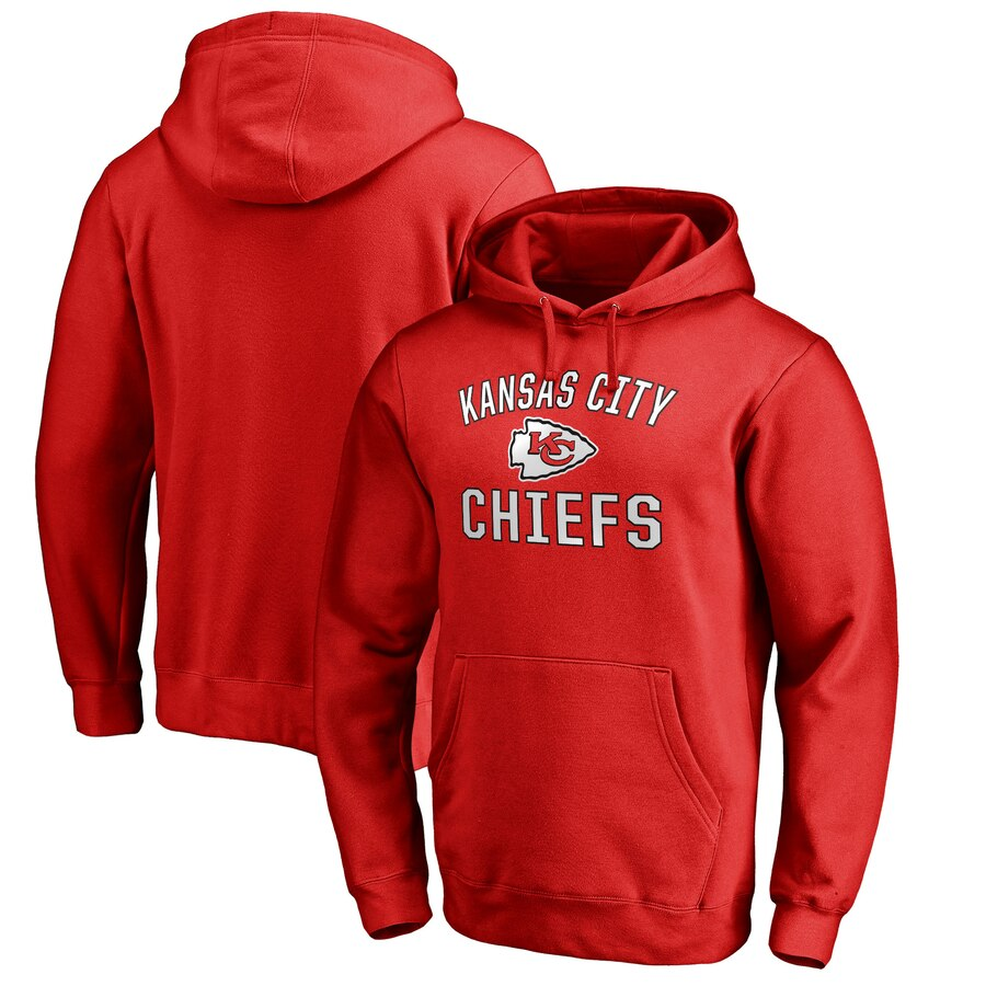 Kansas City Chiefs NFL Pro Line by Fanatics Branded Big & Tall Victory Arch Pullover Hoodie Red