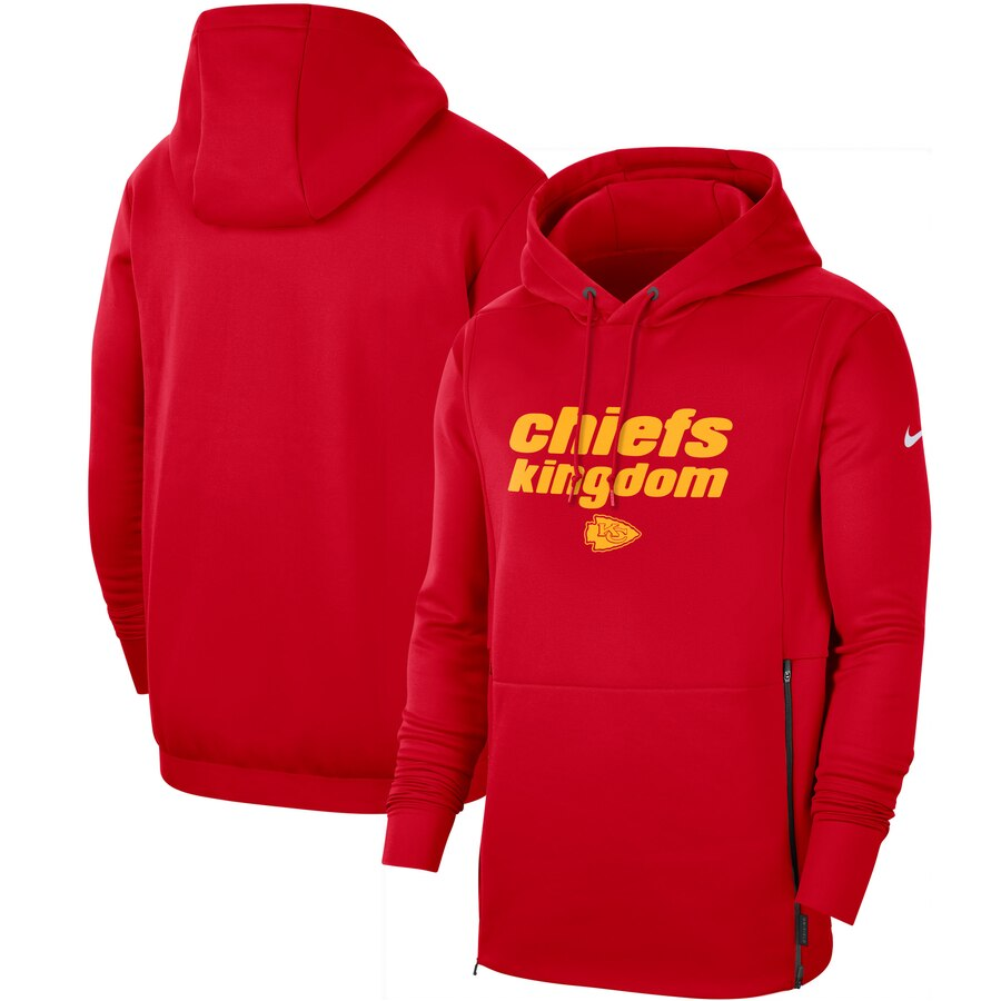 Kansas City Chiefs Nike Sideline Local Performance Pullover Hoodie Red