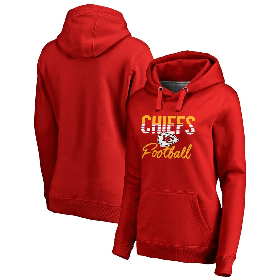 Kansas City Chiefs NFL Pro Line by Fanatics Branded Women's Plus Size Free Line Pullover Hoodie Red