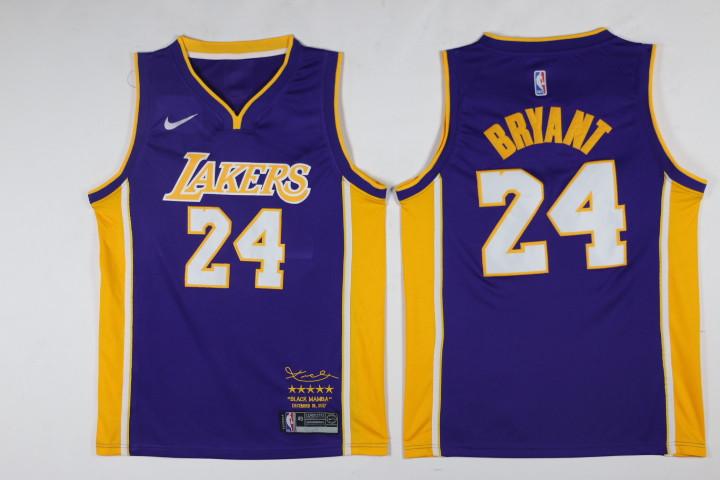 Lakers 24 kobe Bryant Purple Black Mamba Nike Swingman Jersey