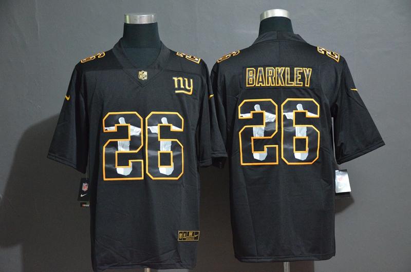 Nike Giants 26 Saquon Barkley Black Jesus Faith Edition Limited Jersey
