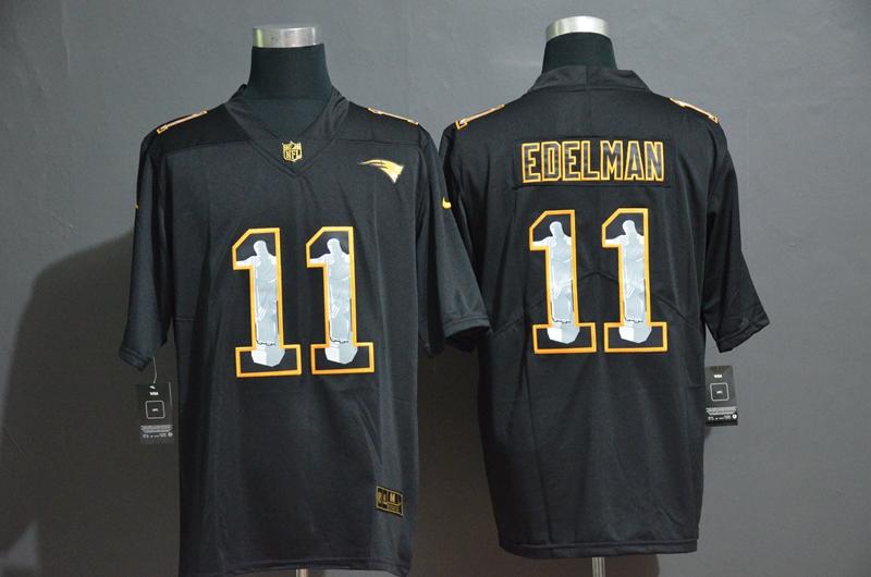 Nike Patriots 11 Julian Edelman Black Jesus Faith Edition Limited Jersey