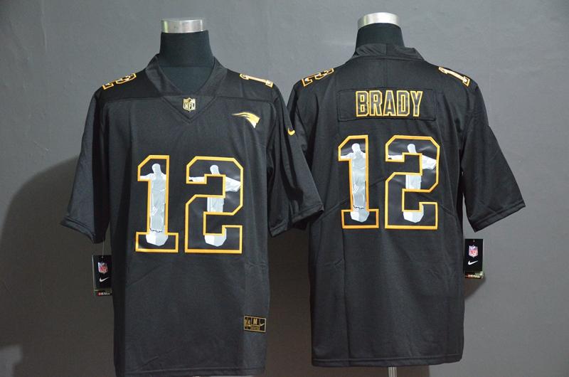 Nike Patriots 12 Tom Brady Black Jesus Faith Edition Limited Jersey