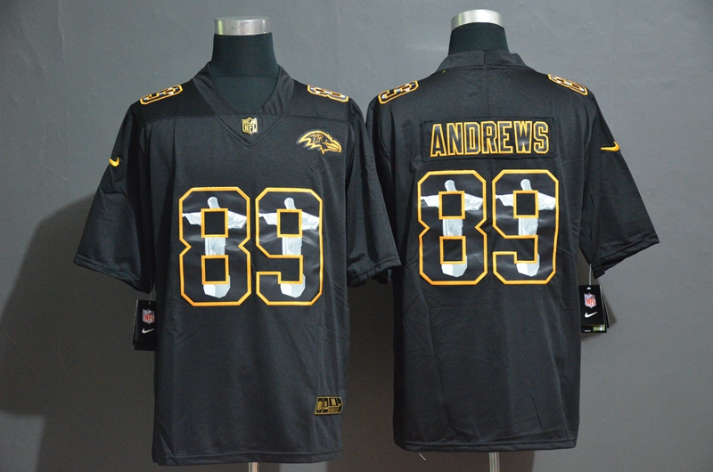 Nike Ravens 89 Mark Andrews Black Jesus Faith Edition Limited Jersey