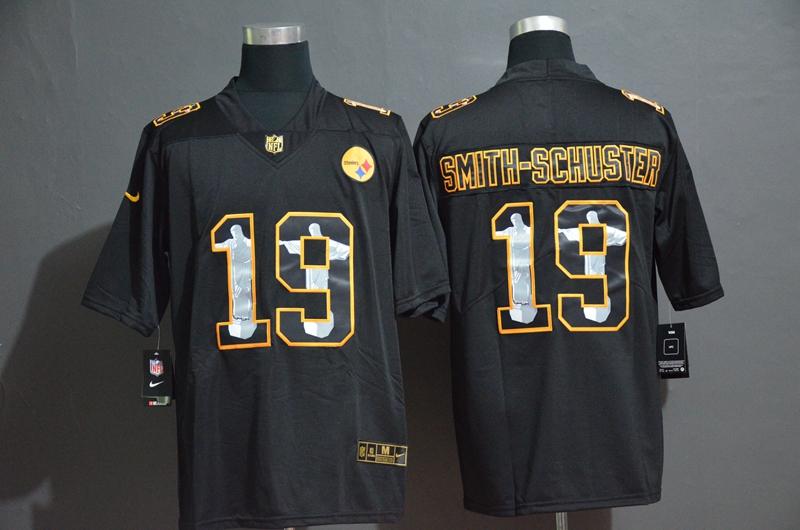 Nike Steelers 19 JuJu Smith-Schuster Black Jesus Faith Edition Limited Jersey