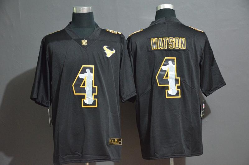 Nike Texans 4 Deshaun Watson Black Jesus Faith Edition Limited Jersey