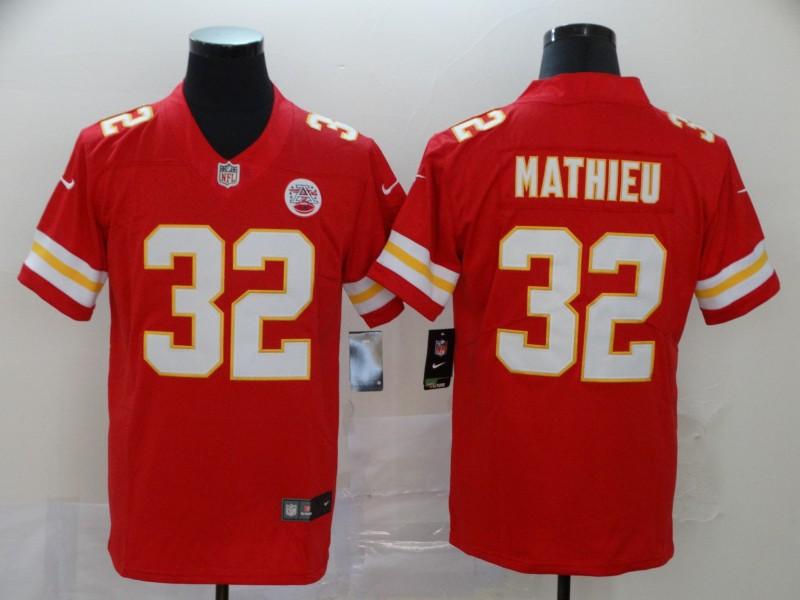 Chiefs 32 Tyrann Mathieu Red Vapor Untouchable Limited Jersey