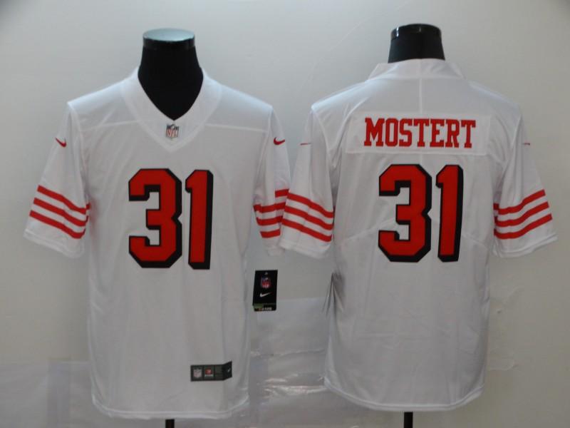 Nike 49ers 31 Raheem Mostert White Color Rush Vapor Untouchable Limited Jersey
