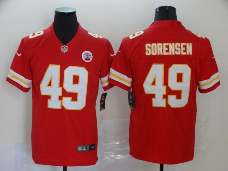 Nike Chiefs 49 Daniel Sorensen Red Vapor Untouchable Limited Jersey
