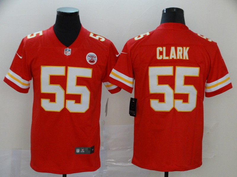 Nike Chiefs 55 Frank Clark Red Vapor Untouchable Limited Jersey