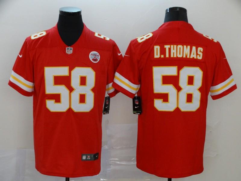Nike Chiefs 58 Derrick Thomas Red Vapor Untouchable Limited Jersey