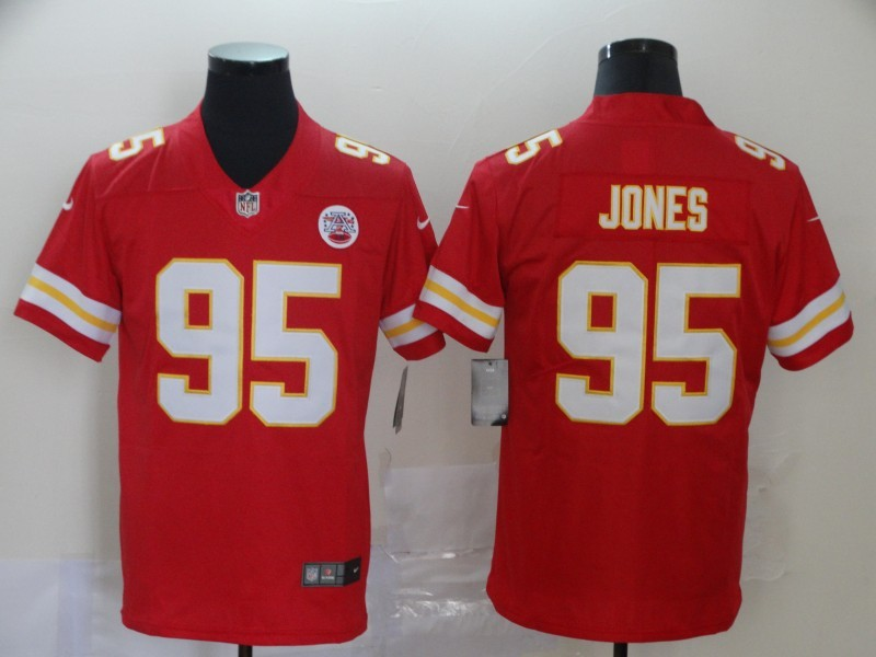 Nike Chiefs 95 Chris Jones Red Vapor Untouchable Limited Jersey