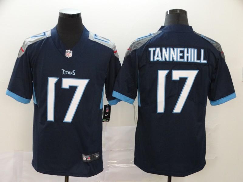Titans 17 Ryan Tannehill Navy Vapor Untouchable Limited Jersey