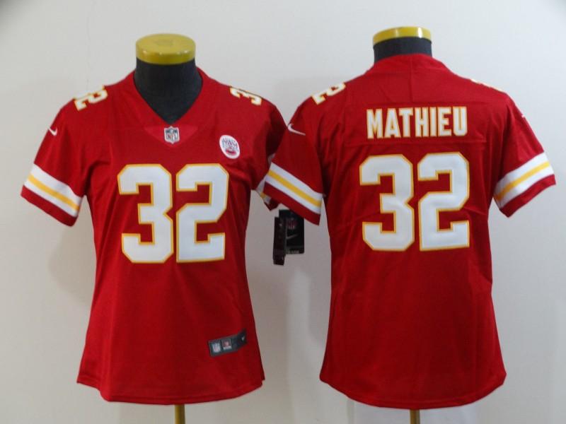 Chiefs 32 Tyrann Mathieu Red Women Vapor Untouchable Limited Jersey