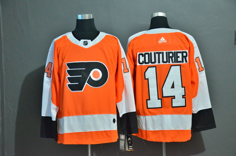 Flyers 14 Sean Couturier Orange Adidas Jersey