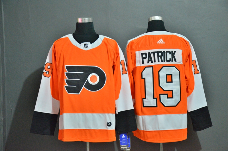 Flyers 19 Nolan Patrick Orange Adidas Jersey