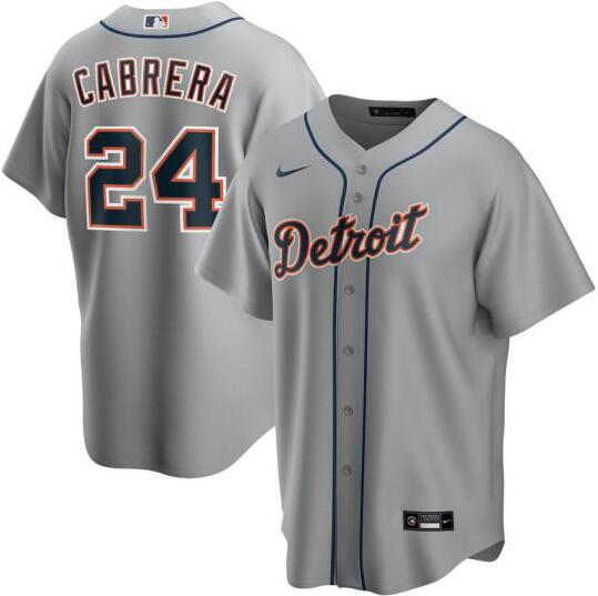 Tigers 24 Miguel Cabrera Gray 2020 Nike Cool Base Jersey