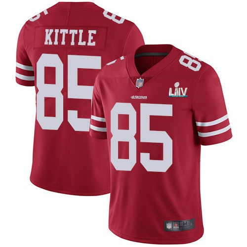 Nike 49ers 85 George Kittle Red 2020 Super Bowl LIV Vapor Untouchable Limited Jersey