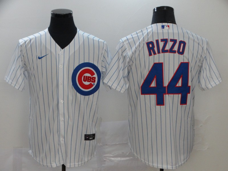 Cubs 44 Anthony Rizzo White 2020 Nike Cool Base Jersey