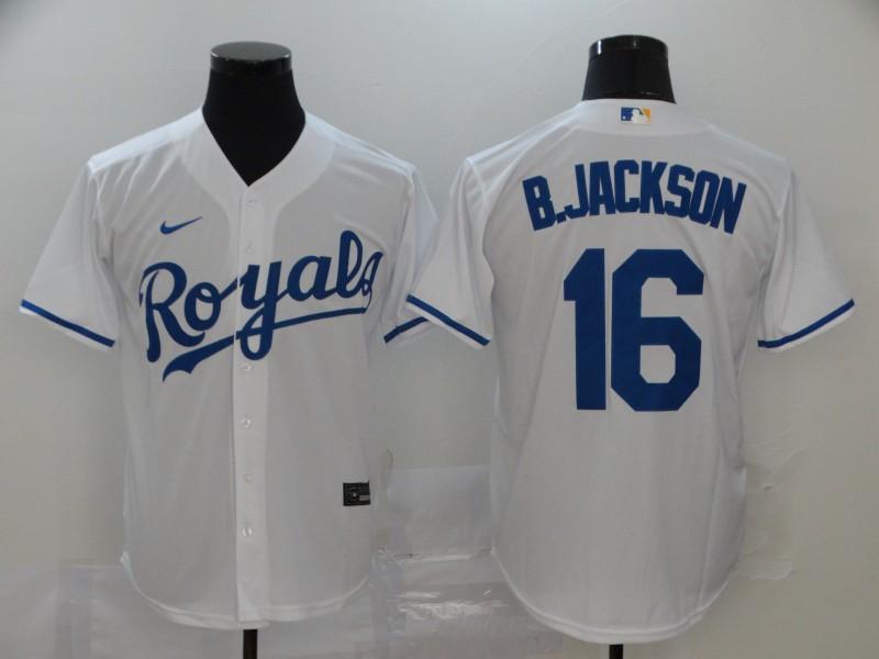 Royals 16 Bo Jackson White 2020 Nike Cool Base Jersey