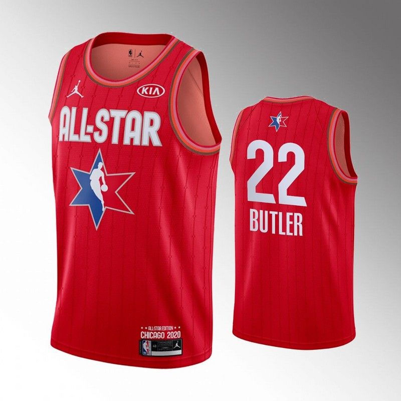 Heat 22 Jimmy Butler Red 2020 NBA All-Star Jordan Brand Swingman Jersey