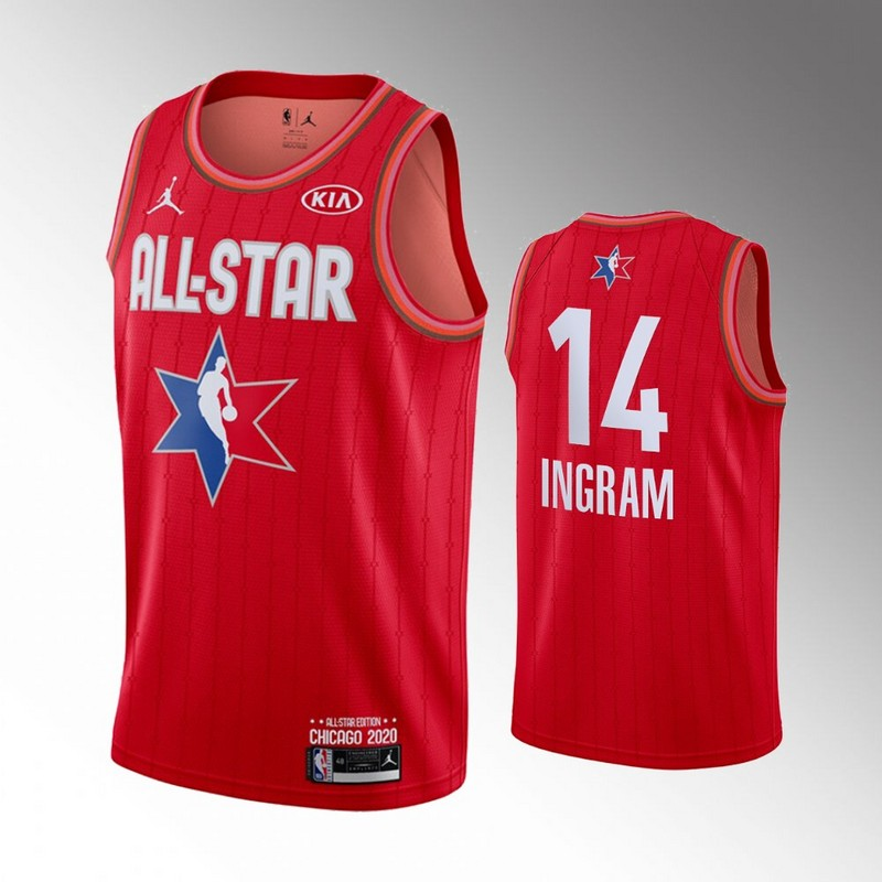 Lakers 14 Brandon Ingram Red 2020 NBA All-Star Jordan Brand Swingman Jersey