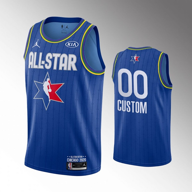 Men's Blue Customized 2020 NBA All-Star Jordan Brand Swingman Jersey