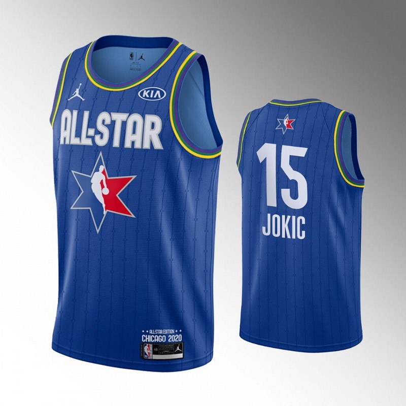 Nuggets 15 Nikola Jokic Blue 2020 NBA All-Star Jordan Brand Swingman Jersey