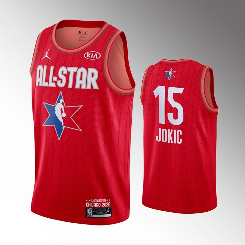 Nuggets 15 Nikola Jokic Red 2020 NBA All-Star Jordan Brand Swingman Jersey