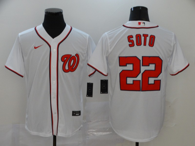 Nationals 22 Juan Soto White Nike 2020 Cool Base Jersey