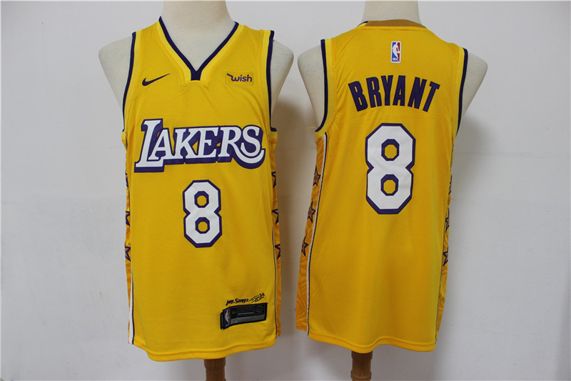 Lakers 8 kobe Bryant Yellow 2020 City Edition Nike Swingman Jersey