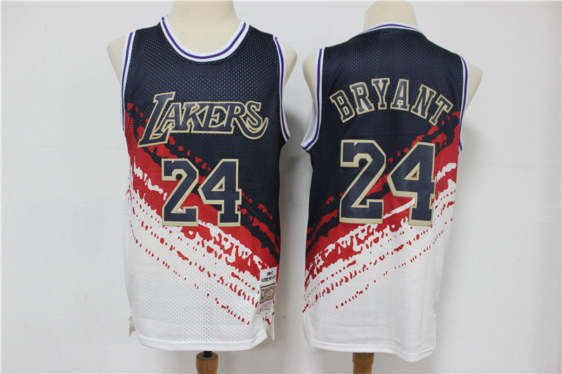 Lakers 24 Kobe Bryant White Independence Day Hardwood Classics Jersey