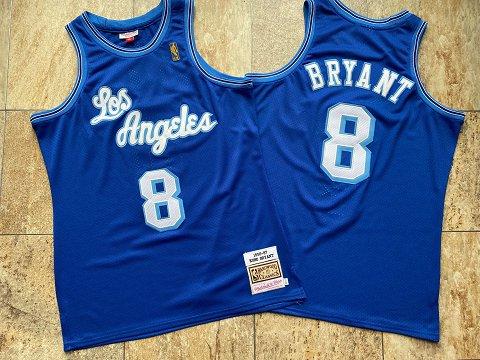 Lakers 8 Kobe Bryant Light Blue 1996-97 Hardwood Classics Jersey