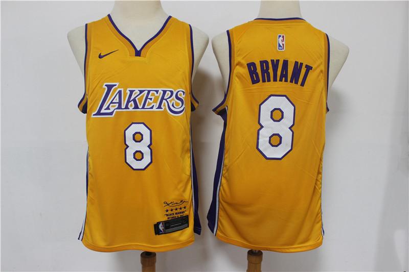 Lakers 8 kobe Bryant Yellow Nike Swingman Jersey