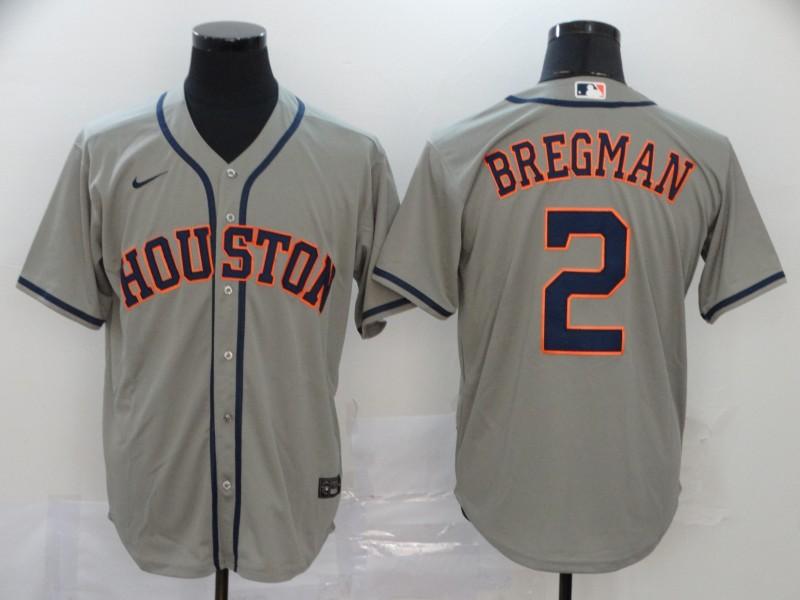 Astros 2 Alex Bregman Gray 2020 Nike Cool Base Jersey