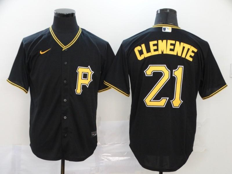 Pirates 21 Roberto Clemente Black 2020 Nike Cool Base Jersey