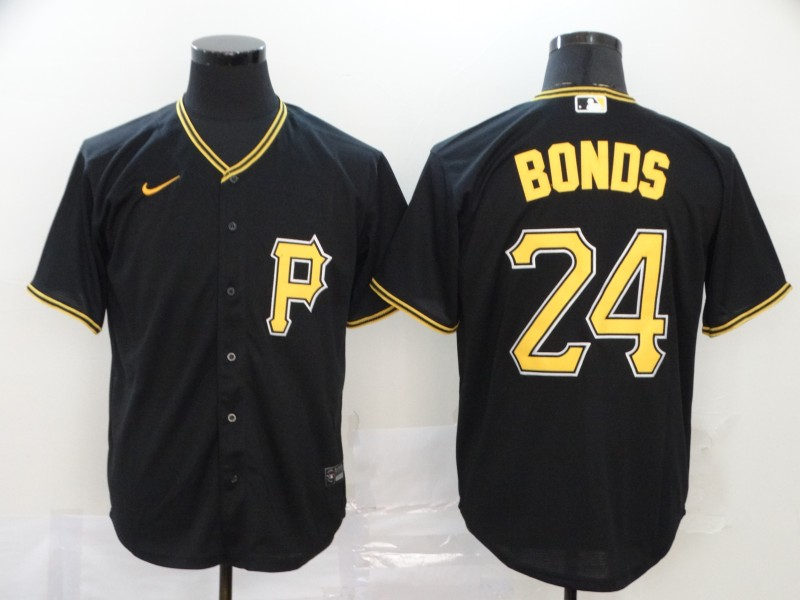 Pirates 24 Barry Bonds Black 2020 Nike Cool Base Jersey