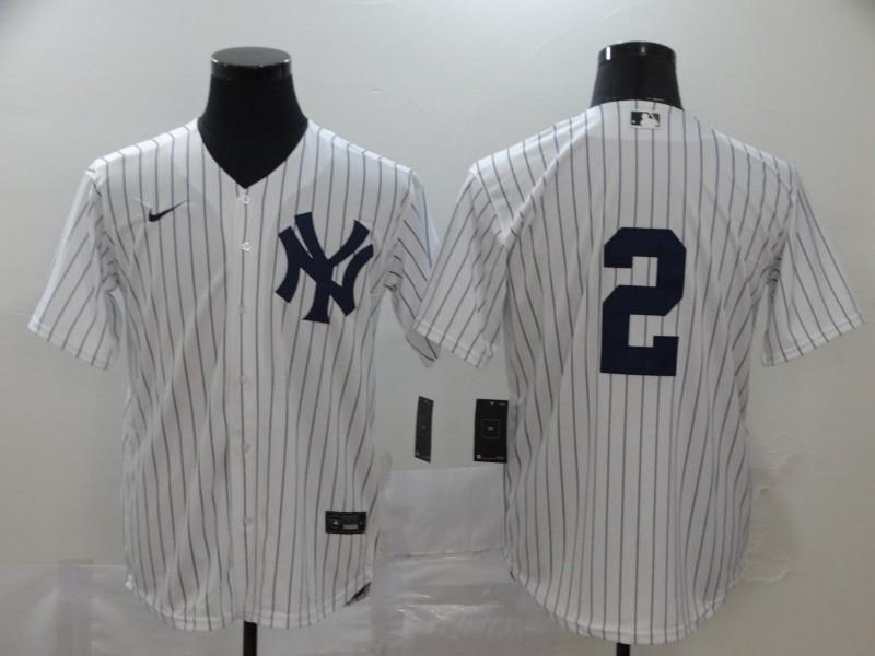 Yankees 2 Derek Jeter White 2020 Nike Cool Base Jersey