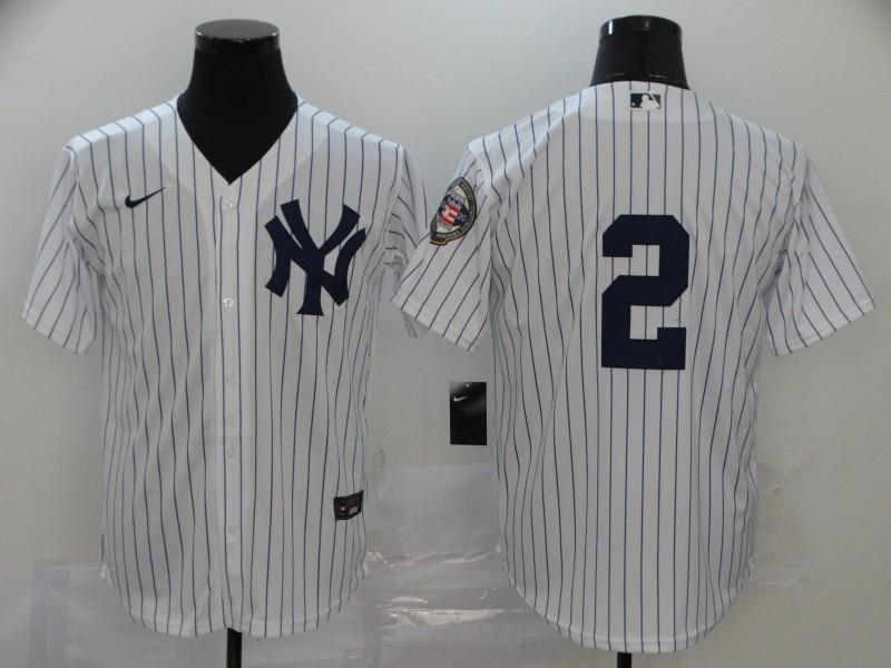 Yankees 2 Derek Jeter White Nike 2020 Nike Hall of Fame Induction Cool Base Jersey