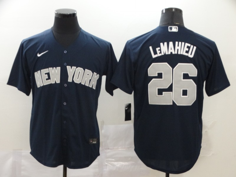 Yankees 26 DJ LeMahieu Navy 2020 Nike Cool Base Jersey