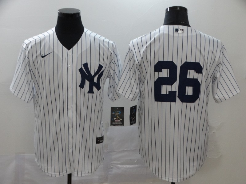 Yankees 26 DJ LeMahieu White 2020 Nike Cool Base Jersey
