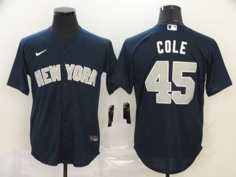 Yankees 45 Gerrit Cole Navy 2020 Nike Cool Base Jersey