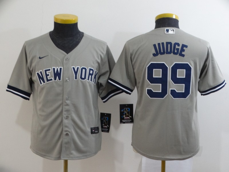 Yankees 99 Aaron Judge Gray Youth 2020 Nike Cool Base Jersey