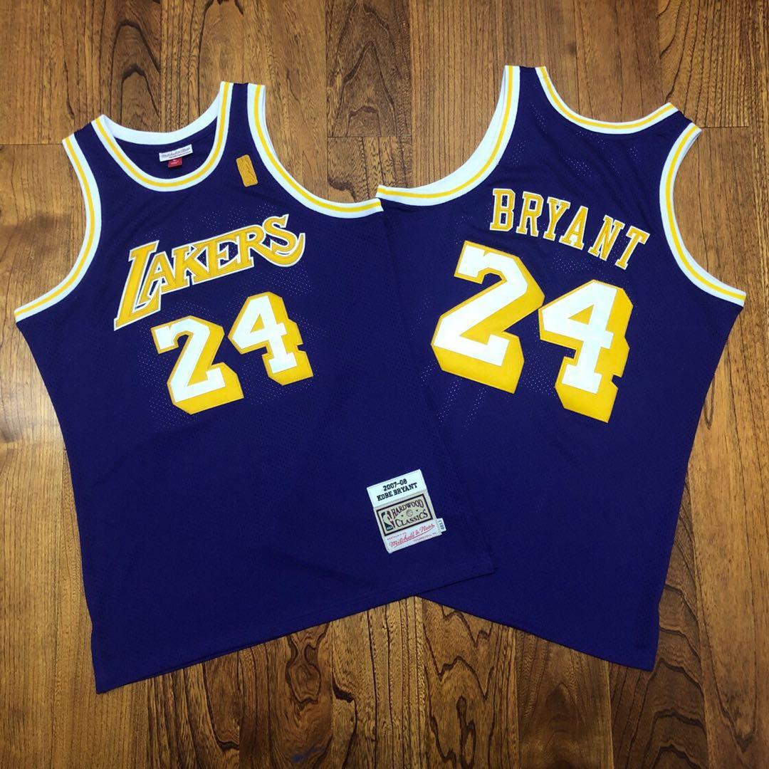 Lakers 24 Kobe Bryant Purple 2007-08 Hardwood Classics Jersey