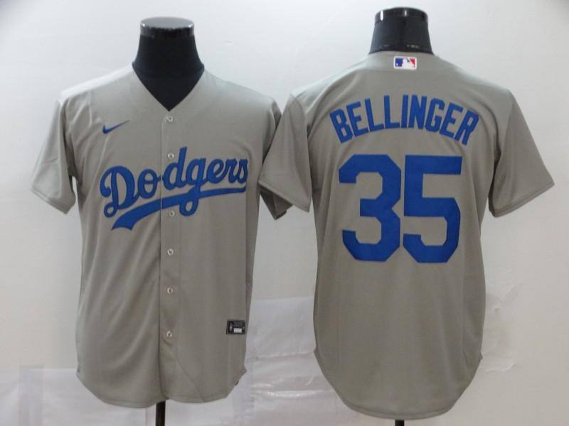 Dodgers 35 Cody Bellinger Gray 2020 Nike Cool Base Jersey