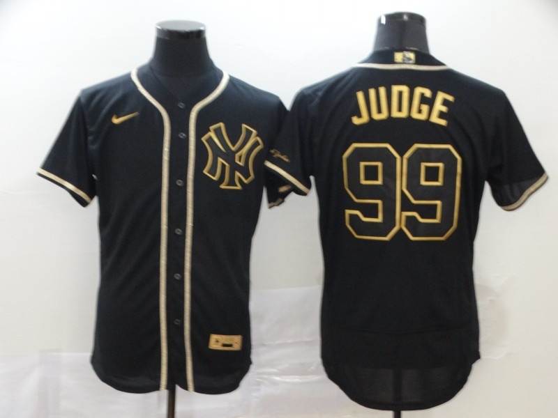 Yankees 99 Aaron Judge Black Gold Nike Flexbase Jersey