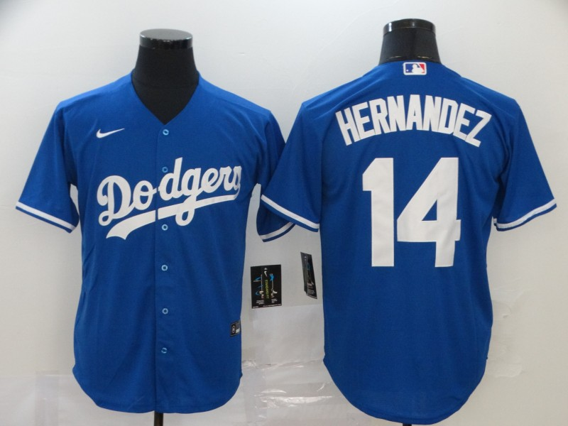 Dodgers 14 Enrique Hernandez Royal 2020 Nike Cool Base Jersey