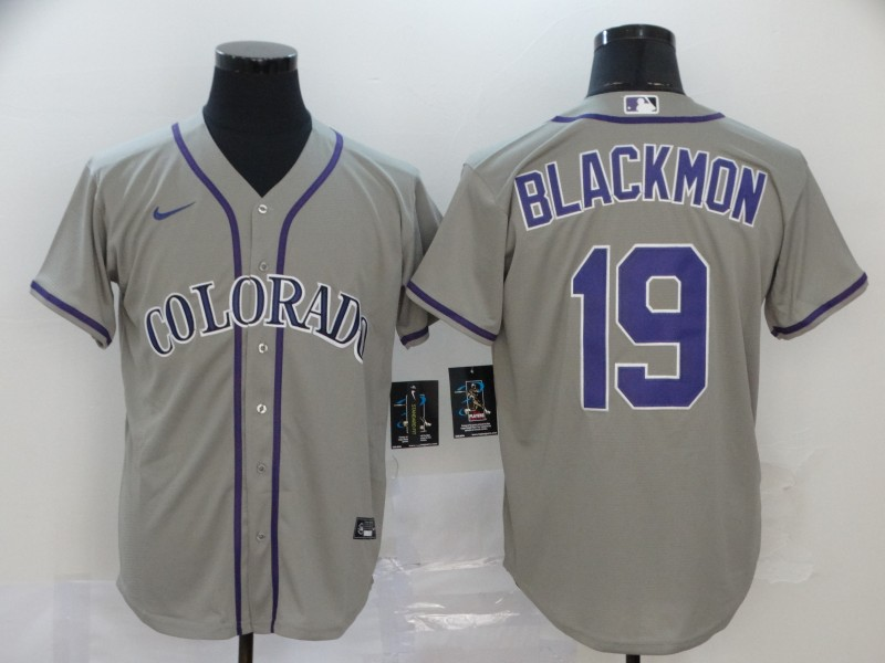 Rockies 19 Charlie Blackmon Gray 2020 Nike Cool Base Jersey