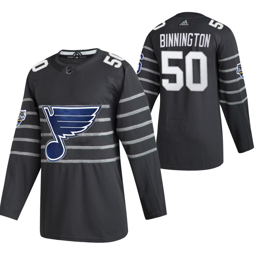 Blues 50 Jordan Binnington Gray 2020 NHL All-Star Game Adidas Jersey