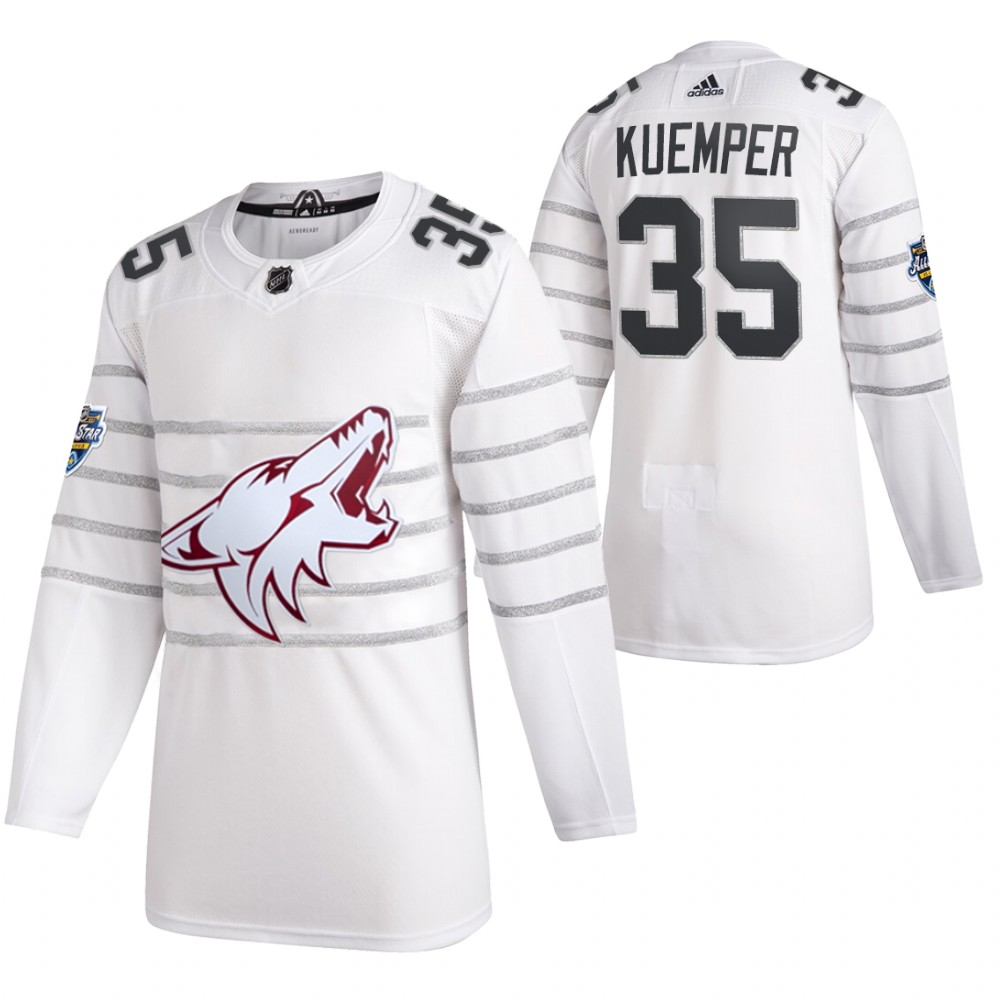 Coyotes 35 Darcy Kuemper White 2020 NHL All-Star Game Adidas Jersey